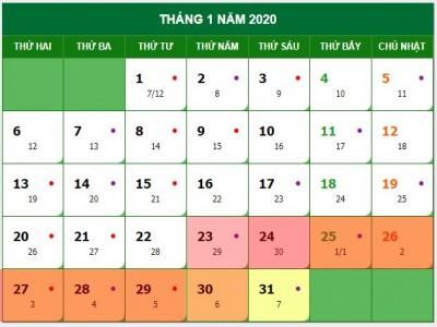 Tết Nguyên đán Canh Tý 2020, người lao động được nghỉ 7 ngày